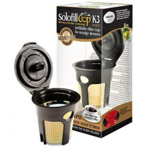 Solofill K3 Gold for Use with Keurig Brewers - Senseo Adapter