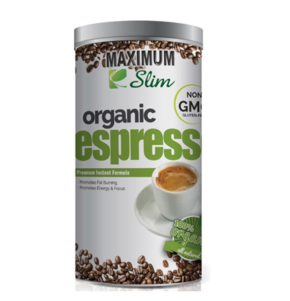 Maximum Slim Organic Espresso Medium Dark Roast Coffee 6oz