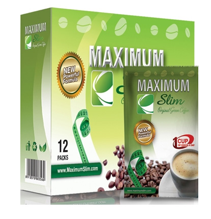 Maximum Slim Original Green Medium Roast Coffee 12ct