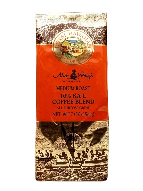 Royal Hawaiian 10% Kau Whole Bean Medium Roast Coffee 7oz