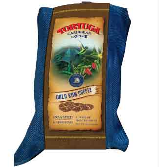 Tortuga Caribbean Gold Rum Ground Dark Roast Coffee 10oz