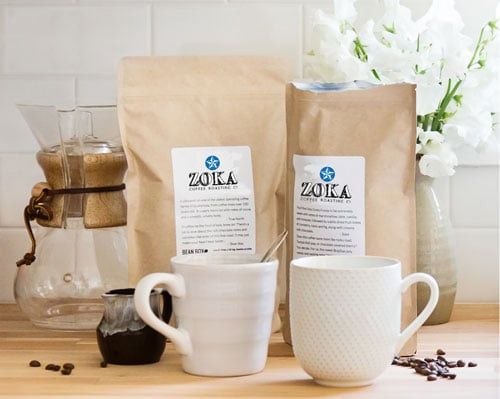 Zoka Coffee Guatemala Bourbon Natural Whole Bean Light Roast Coffee 12oz