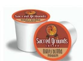 Sacred Grounds Coffee Nikiti Medium Roast Single Cups 24ct