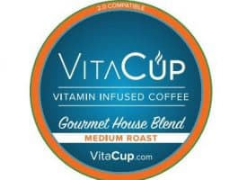 VitaCup Gourmet House Blend Medium Roast Healthy K Cup 16ct
