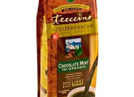 Teeccino Herbal Coffee Chocolate Mint Ground Light Roast Coffee 11oz