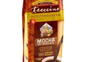 Teeccino Herbal Coffee Mocha Ground Medium Roast Coffee 11oz