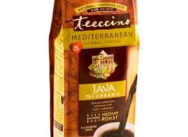 Teeccino Herbal Coffee Java Ground Medium Roast Coffee 11oz
