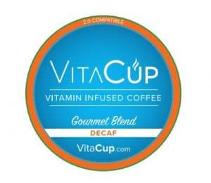VitaCup Decaf Gourmet Blend Medium Roast Healthy K Cup 16ct