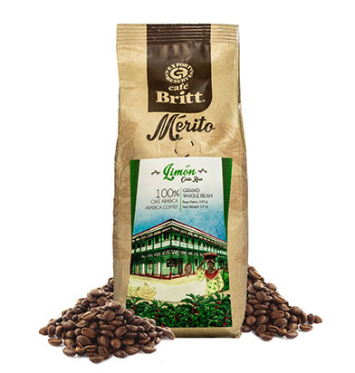 Cafe Britt Costa Rican Limon Whole Bean Dark Roast Coffee 12oz