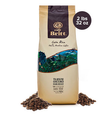 Cafe Britt Costa Rican Dark Roast Coffee 32oz