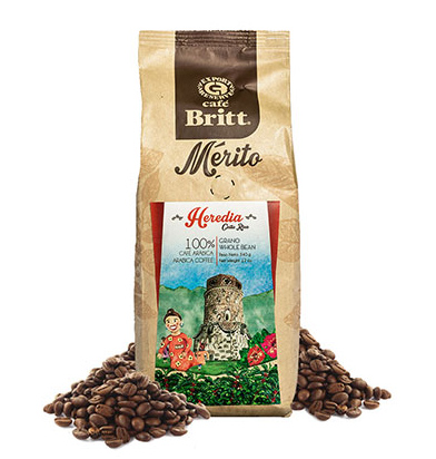 Cafe Britt Heredia Whole Bean Medium Roast Coffee 12oz