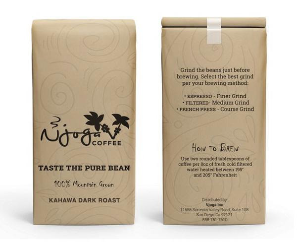 Njoga Coffee Kahawa Ground Dark Roast 12oz