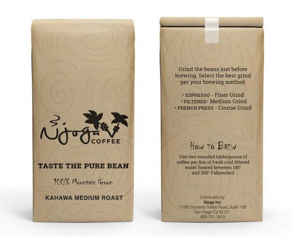 Njoga Coffee Kahawa Ground Medium Roast Coffee 12oz