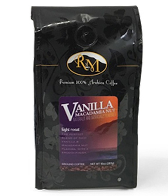 Royal Mills Vanilla Macadamia Nut Ground Light Roast Coffee 10oz