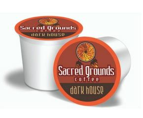 Sacred Grounds Coffee Dark Horse Dark Roast Single Cups 24ct