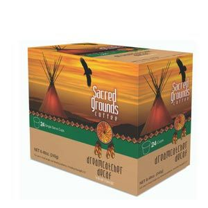 Sacred Grounds Coffee Decaf Dreamcatcher Medium Roast Single Cups 24ct