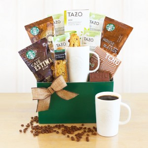 Starbucks Kick Start the Day Coffee and Tea Gift Basket