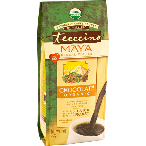 Teecino Herbal Coffee Chocolate Ground Dark Roast Coffee 11oz