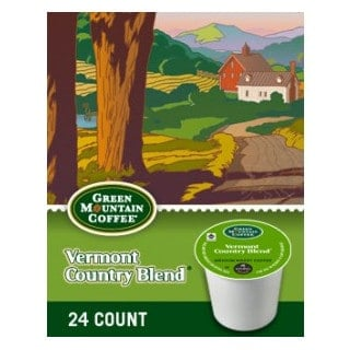 Green Mountain Coffee Vermont Country Blend Dark Roast KCups 24ct