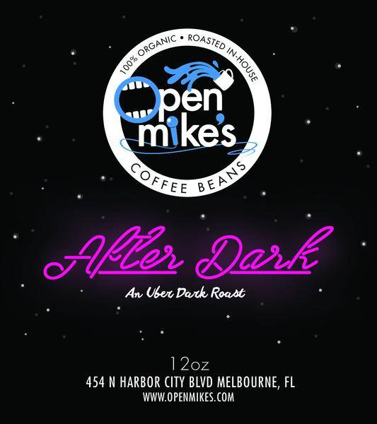 Open Mike's Coffee After Dark Whole Bean Dark Roast Coffee 12oz