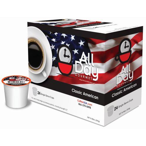 All Day Gourmet Classic America Roast Medium Roast K cups®  24ct