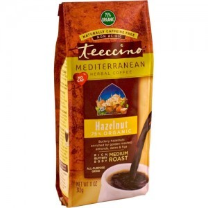 Teeccino Herbal Coffee Hazelnut Ground Medium Roast Coffee 11oz