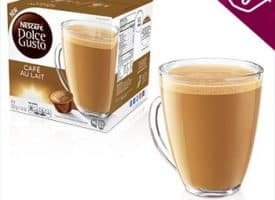 Nescafe Dolce Gusto Coffee Pods Cafe Au Lait Dark Roast 16ct