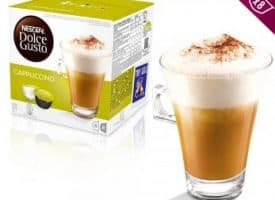 Nescafe Dolce Gusto Coffee Pods Cappuccino Dark Roast 16ct