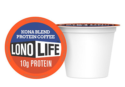 Lonolife Single Serve Protein Coffee K Cup Kona Blend 10ct