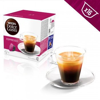Nescafe Dolce Gusto Coffee Pods Espresso Dark Roast 16ct