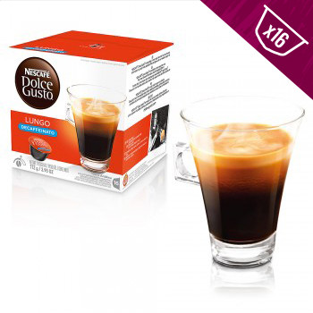 Nescafe Dolce Gusto Coffee Pods Lungo Decaf Dark Roast 16ct