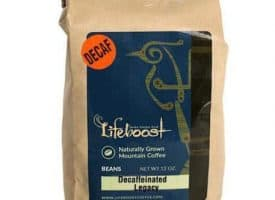 Lifeboost Coffee Decaf Fair Trade Organic Whole Bean Medium Roast Coffee 12oz