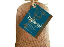 Lifeboost Coffee Fair Trade Organic Whole Bean Dark Roast Coffee 12oz