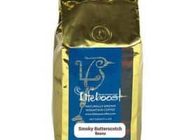 Lifeboost Coffee Fair Trade Organic Smoky Butterscotch Spice Whole Bean Medium Roast Coffee 12oz
