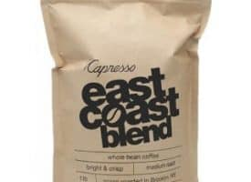 Capresso East Coast Whole Bean Medium Roast Coffee 1lb