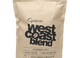 Capresso West Coast Whole Bean Medium Roast Coffee 1lb