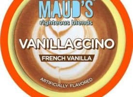 Maud's Righteous Blends Vanilla Cappuccino Dark Roast Recyclable Coffee Pods 44ct