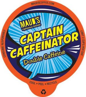 Maud's Righteous Blends Double Caffeine Medium Dark Roast Recyclable Coffee Pods 48ct