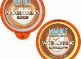 Maud's Righteous Blends Mocha & Vanilla Cappuccino Dark Roast Recyclable Coffee Pods 44ct