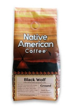 Native American Coffee Black Wolf Ground Sumatran Medium Dark Roast 1lb
