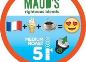 Maud's Righteous Blends French Vanilla Light Roast Recyclable Coffee Pods 100ct