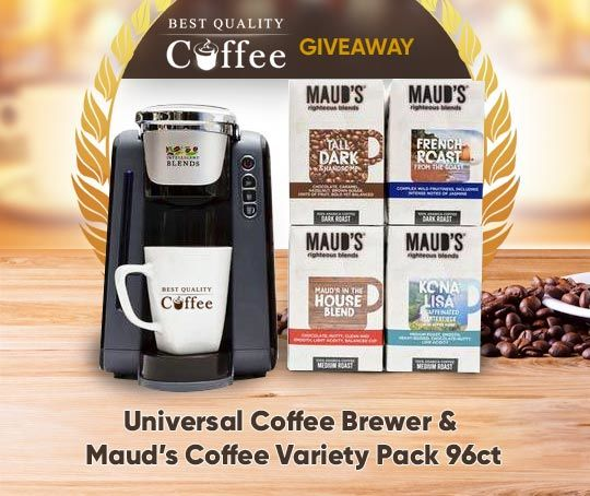 Maud's Coffee and Universal Coffee Brewer Giveaway