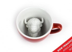 Creature Cups Specialty Coffee Mugs - Bison Mug