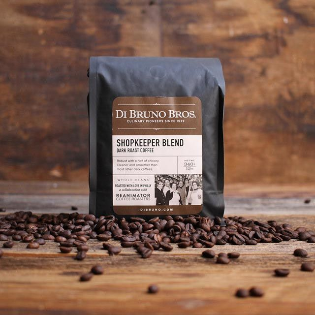Di Bruno Bros Shopkeeper Blend Whole Bean Dark Roast Coffee 12oz