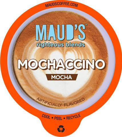 Maud's Righteous Blends Mocha Cappuccino Dark Roast Recyclable Coffee Pods 44ct