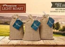 Lifeboost Coffee Organic Whole Bean Light Roast Coffee Bundle 36oz
