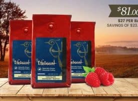 Lifeboost Coffee Organic Chocolate Raspberry Truffle Whole Bean Medium Roast Coffee Bundle 36oz (Copy)