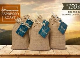 Lifeboost Coffee Organic Espresso Whole Bean Dark Roast Coffee Bundle 72oz