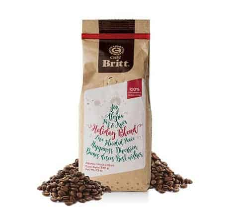 Cafe Britt Holiday Blend Whole Bean Medium Roast Coffee 12oz