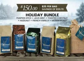 Lifeboost Coffee Organic Holiday Bundle Gourmet Coffee 72oz